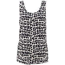 Buy Whistles Safari Leopard Print Vest Top, Grey/Multi Online at johnlewis.com