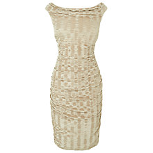 Buy Phase Eight Petrina Plisse Dress, Champagne Online at johnlewis.com