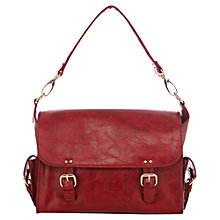 Buy Warehouse Mini Clean Satchel, Dark Red Online at johnlewis.com