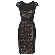 Buy Phase Eight Aurora Lace Dress, Black/Nude Online at johnlewis.com