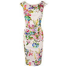 Buy Phase Eight Chelsea Flower Dress, Stone Online at johnlewis.com