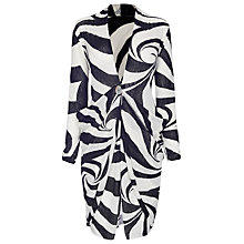 Buy James Lakeland Button Cardigan, Black/White Online at johnlewis.com