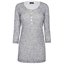Buy James Lakeland Button Tunic Top, Grey Online at johnlewis.com