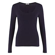 Buy Jigsaw Double Front Scoop T-Shirt, Nightshade Online at johnlewis.com