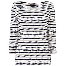Buy Phase Eight Trinity Striped Top, Navy/Ivory Online at johnlewis.com