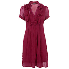 Buy Phase Eight Made in Italy Button Ruffle Dress, Light Berry Online at johnlewis.com