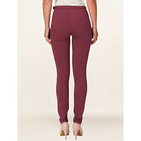 Buy Phase Eight Amina Jeggings, Burgundy Online at johnlewis.com