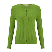 Buy John Lewis Cable Knit Crew Cardigan Online at johnlewis.com