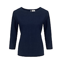Buy Kin by John Lewis Seamed 3/4 Length Sleeve Jersey Top, Indigo Dot Online at johnlewis.com