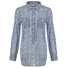 Buy John Lewis Capsule Collection Batik Geometric Shirt, Blue Online at johnlewis.com