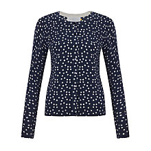 Buy Collection WEEKEND by John Lewis Crew Neck Star Print Cardigan Online at johnlewis.com