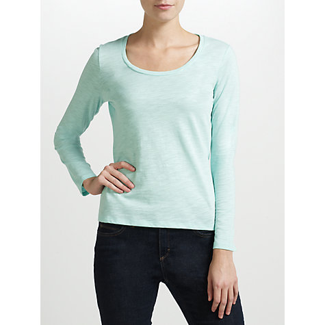 Buy Collection WEEKEND by John Lewis Long Sleeve Top, Sea Green Online at johnlewis.com