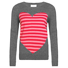 Buy Collection WEEKEND by John Lewis Intarsia Heart Sweatshirt, Grey/Pinks Online at johnlewis.com