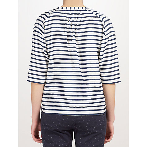 Buy Collection WEEKEND by John Lewis Stripe Shoulder Shirt, Navy / White Online at johnlewis.com