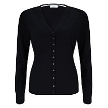 Buy John Lewis V-Neck Cardigan, Black Online at johnlewis.com