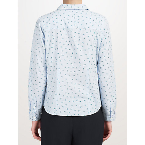 Buy John Lewis Capsule Collection Ditsy Stripe Shirt, Blue Online at johnlewis.com