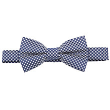 Buy John Lewis Boy Smart Patterned Bow Tie, Blue/White Online at johnlewis.com