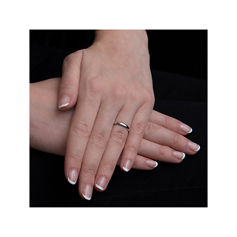 Buy EWA Platinum 4mm Larger Sized Court Wedding Ring Online at johnlewis.com