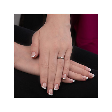 Buy EWA Platinum 2.5mm Court Wedding Ring Online at johnlewis.com