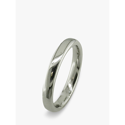 EWA 18ct White Gold 3mm Court Wedding Ring, White Gold