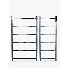 Buy John Lewis Peel 1250 Dual Fuel Heated Towel Rail and Valves, from the Wall Online at johnlewis.com