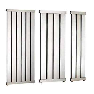 John Lewis Lyme 1960 Dual Fuel Heated Towel Rail and Valves, from the Wall
