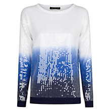 Buy Mango Sequinned Jumper, Navy Online at johnlewis.com