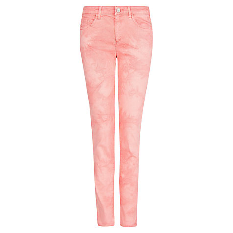 Buy Mango Tie Dye Trousers, Bright Red Online at johnlewis.com