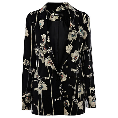 Buy Warehouse Trailing Jacket, Black/Multi Online at johnlewis.com