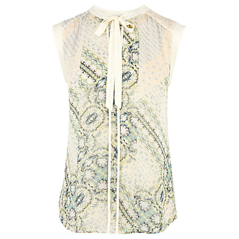 Buy Warehouse Pretty Patchwork Blouse, Multi Online at johnlewis.com