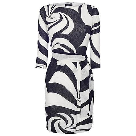 Buy James Lakeland Belted Dress, Black/White Online at johnlewis.com