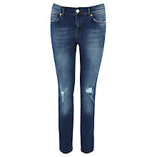 Buy Oasis Ella Ripped Boyfriend Jeans, Denim Online at johnlewis.com