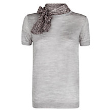 Buy Mango Leopard Scarf Short Sleeve Jumper Online at johnlewis.com