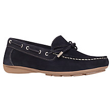 Buy Carvela Lovely Suede Loafers, Navy Online at johnlewis.com