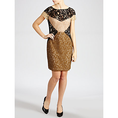 Buy Hoss Intropia Mix Lace Dress, Multi Online at johnlewis.com