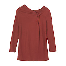 Buy Toast Wool Mix Jersey Knot Top, Oxblood Online at johnlewis.com