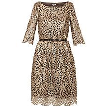 Buy Hoss Intropia Cut Out Dress, Antique Gold Online at johnlewis.com