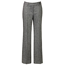 Buy Gardeur Doree Tweed Flared Trousers, Charcoal Online at johnlewis.com