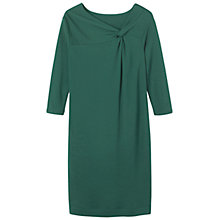 Buy Toast Jersey Wool Knot Dress, Emerald Online at johnlewis.com