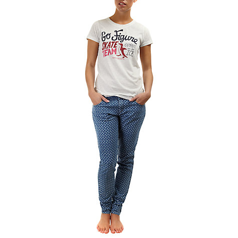 Buy Rampant Sporting Printed Skinny Jeans, Denim/Off White Online at johnlewis.com