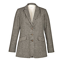 Buy Toast Tweed Jacket, Black/Ecru Online at johnlewis.com