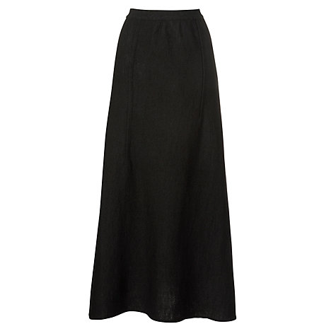 Buy Crea Concept Knitted Long Skirt, Black Online at johnlewis.com