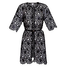 Buy Hoss Intropia Cut Out Coat, Black Online at johnlewis.com
