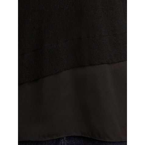 Buy Hoss Intropia Layered Jumper, Black Online at johnlewis.com