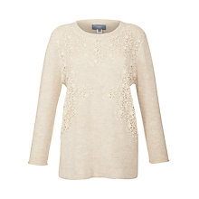 Buy Hoss Intropia Lace Jumper, Ivory Online at johnlewis.com