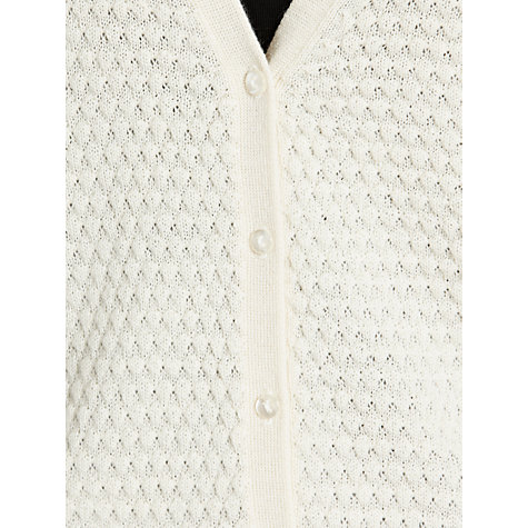 Buy Hoss Intropia Textured Cardigan, Cream Online at johnlewis.com