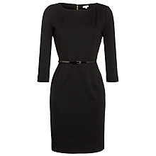 Buy Hoss Intropia Belted Jersey Dress, Black Online at johnlewis.com