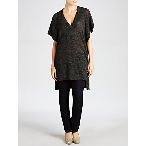 Buy Hoss Intropia V-Neck Knitted Tunic, Black Online at johnlewis.com