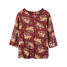 Buy Toast Ikat Floral Tunic Top, Oxblood Online at johnlewis.com