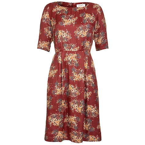 Buy Toast Ikat Floral Dress, Oxblood Online at johnlewis.com